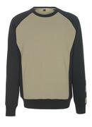 50570-962-5509 Sweatshirt - lichtkhaki/zwart
