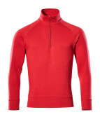 50611-971-02 Sweatshirt met korte rits - rood