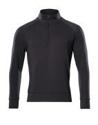 50611-971-09 Sweatshirt met korte rits - zwart