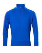 50611-971-11 Sweatshirt met korte rits - korenblauw