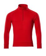 50611-971-202 Sweatshirt met korte rits - signaalrood