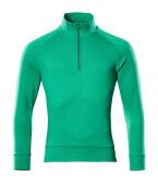 50611-971-333 Sweatshirt met korte rits - helder groen