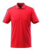 51586-968-202 Poloshirt met borstzak - signaalrood
