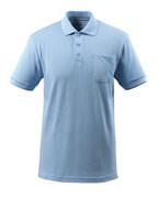 51586-968-71 Poloshirt met borstzak - lichtblauw