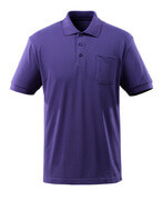 51586-968-95 Poloshirt met borstzak - paarsblauw