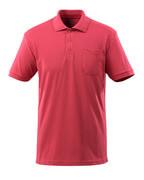 51586-968-96 Poloshirt met borstzak - framboosrood