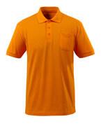 51586-968-98 Poloshirt met borstzak - helder oranje