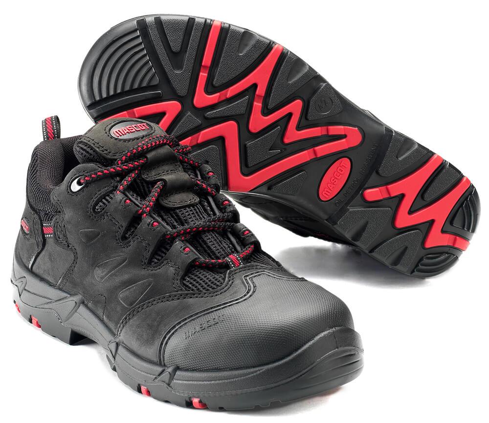 F0014-901-0902 Veiligheidsschoenen (laag) - zwart/rood