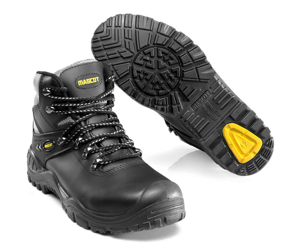 F0074-902-0907 Veiligheidsschoenen (hoog) - zwart/geel