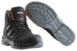 F0116-937-09140 Veiligheidslaarzen - zwart/donkeroranje