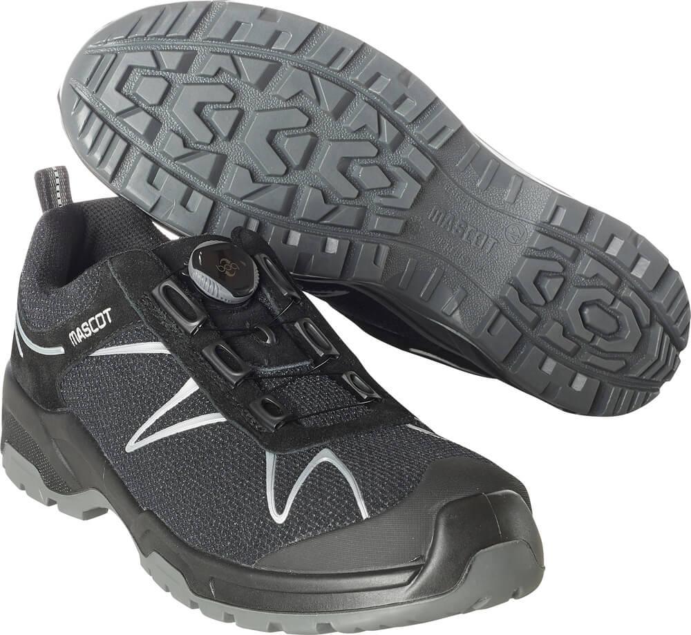 F0122-771-09880 Veiligheidsschoenen (laag) - Zwart/Zilver