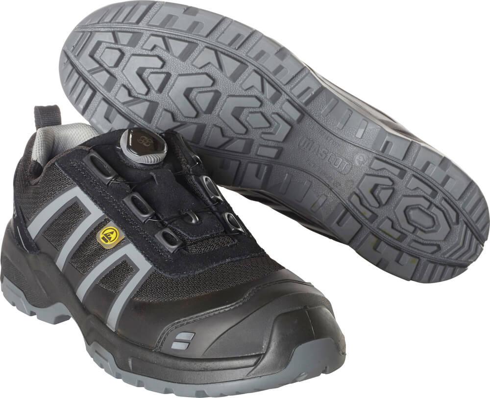 F0125-773-09118 Veiligheidsschoenen (laag) - zwart/lichtantraciet