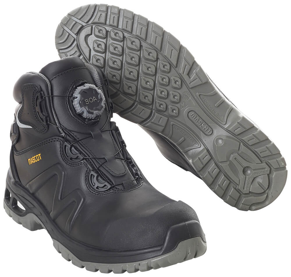 F0136-902-09 Veiligheidsschoenen (hoog) - zwart