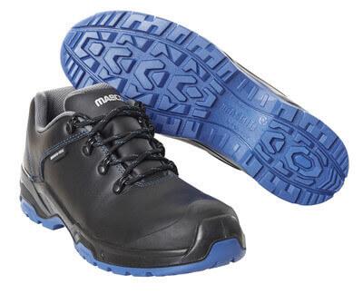 F0140-902-0901 Veiligheidsschoenen, laag - zwart/korenblauw