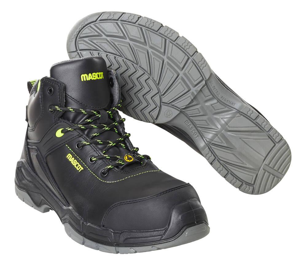 F0143-902-09 Veiligheidsschoenen (hoog) - zwart
