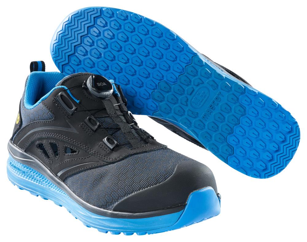 F0252-909-0911 Veiligheidssandalen - zwart/korenblauw