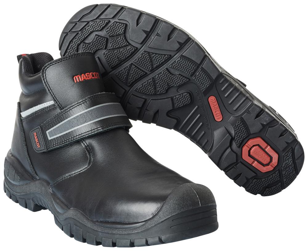 F0457-902-09 Veiligheidsschoenen (hoog) - zwart